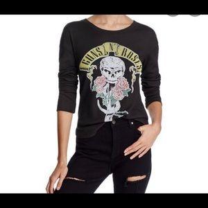 NWT Daydreamer Women's Guns N Roses Thermal Top
